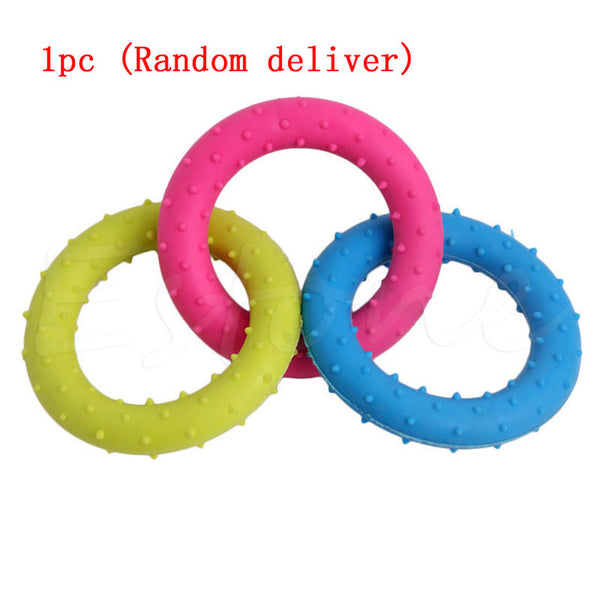 Cute Rubber Resistant Bite Clean Teeth Chew Training Toy For Dogs - 1 pc random color