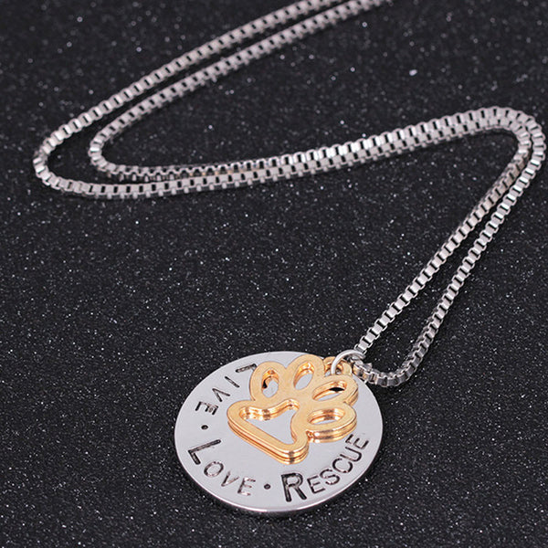 Round Letter Dog Claws Choker-Style Necklace