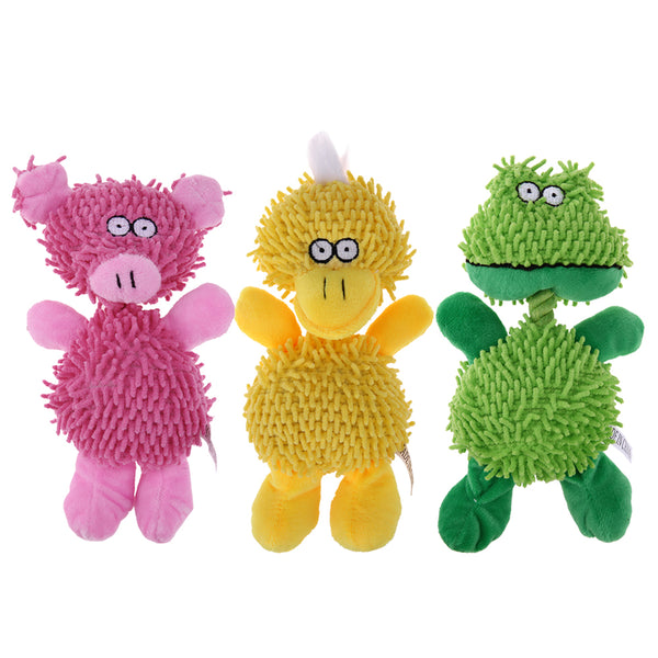 Fun Animal Shape Squeaking Plush Toy