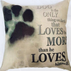 A Dog's Love Cute Animal Pillow Cover Throw Pillow Case Sofa Cushion Cover Home Decor