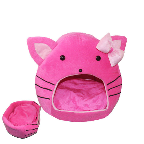 Apaulapet Cartoon Cat Beds Cat House Detachable Pet Nest Dog Litter Mat With Bows catpets gato