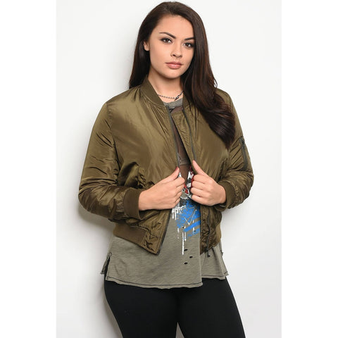 The Daniela _ Plus Size Bomber Jacket