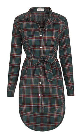 Pretty In Plaid Fall Dress