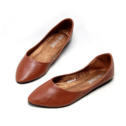 Falling for Flats - Autumn Leather