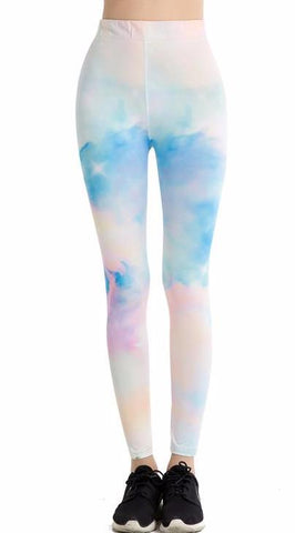 Pastel Abstract Print Leggings