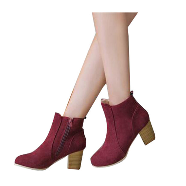 Perfect Fall Booties in Wine, Biege & Black