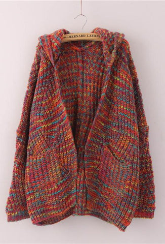 Hooded Boho Fall Poncho