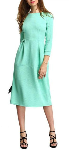 Winter Mint Midi Dress