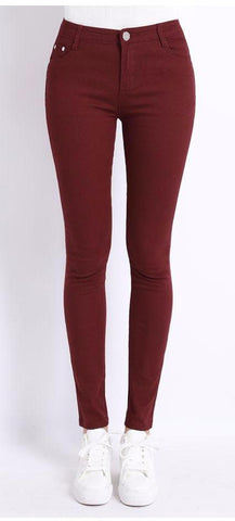Perfect Pencil Pants- Wine