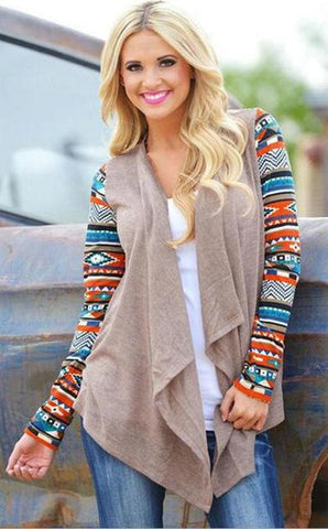 Aztec Stripes- Long Sleeve Cardigans