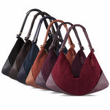 Hobo Style Suede & Leather Leisure Bags
