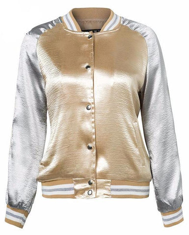Silver & Gold Bomber Jacket 2017
