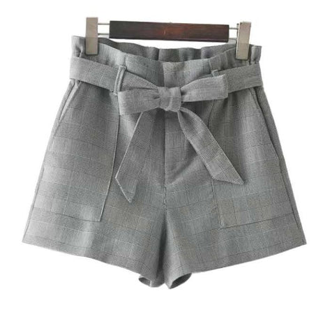 Vintage Bow Tie Houndstooth Shorts
