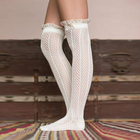 Lovely Woven Lace Boot Socks