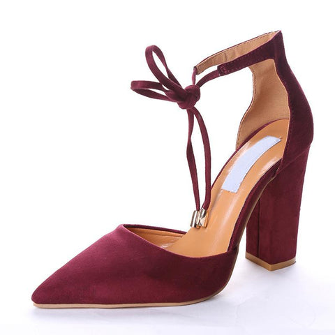 Vintage Platform Ankle Strap Pumps in 6 Fab Fall Colors