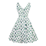 Too Cute Cactus Dress - Vintage Cut A-Line Dress
