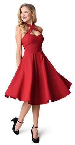 Vintage Cut A Line Party Dresses