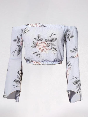 Floral Delight Chiffon Cropped Blouse