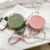 Lovely Floral Lace Round Mini Crossbody Bags