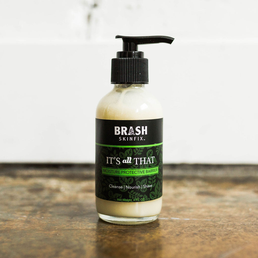 it's all that the chemical free face wash, body wash, and shave cream from brash skinfix 1
