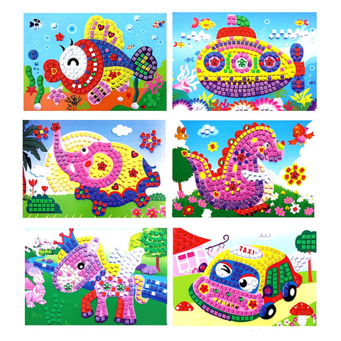 3D Foam Sticker Art for Kids