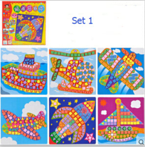 3D Arts Educational Sticker Puzzle for Kids
