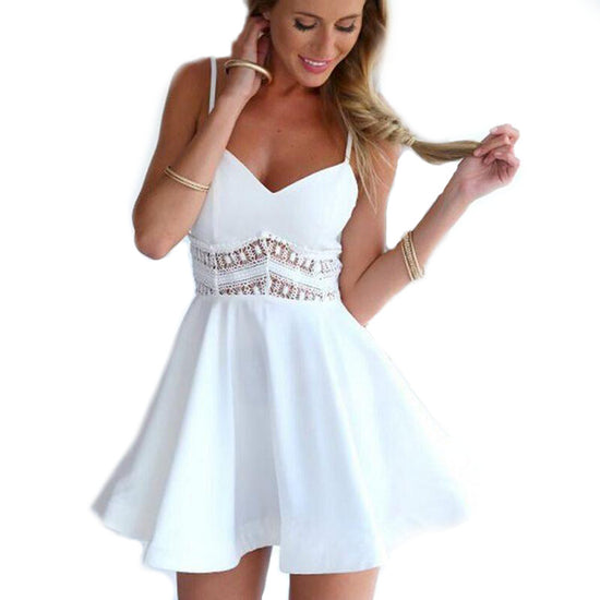 Arabella Backless Strap Tulle Skater Dress Women - White