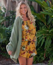 Candice Batwing Knit Cardigan Sweater - Green