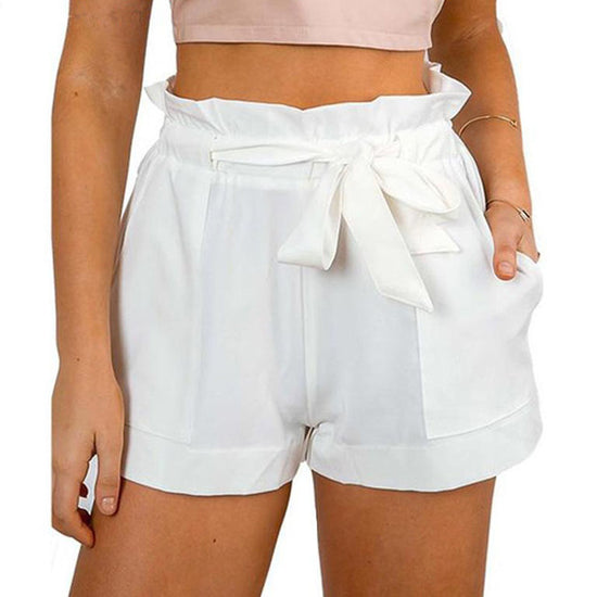 Front Tie High Waist Shorts