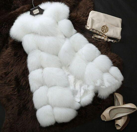 Faux Fox Fur Vest Coat
