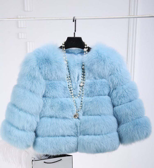 Faux Fur Coat Three Quarter Sleeve