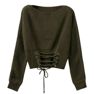 Kito Front Lace Knit Sweater