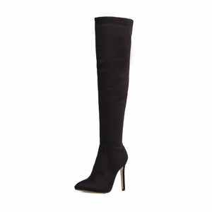Huna Pointed Toe Knee High Boots