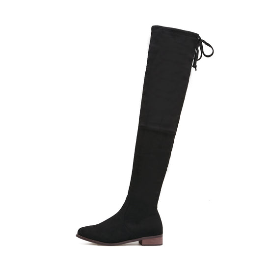 Balta Over-The-Knee Suede Flat Boots