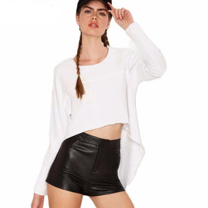 Cora Long Sleeve Front Crop Cape Tee