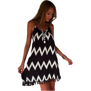 Ziglar Open Back Summer Dress - Black