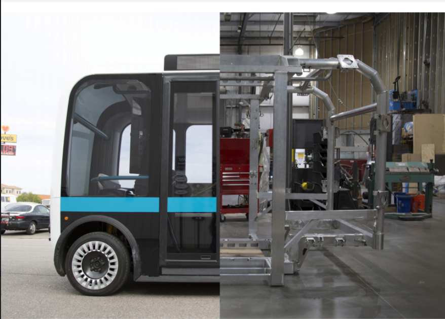 "LOCAL MOTORS y MAKERBOT IMPRIMEN EN 3D UN TRANSPORTE QUE NO REQUIERE DE CONDUCTOR,""OLLI""."