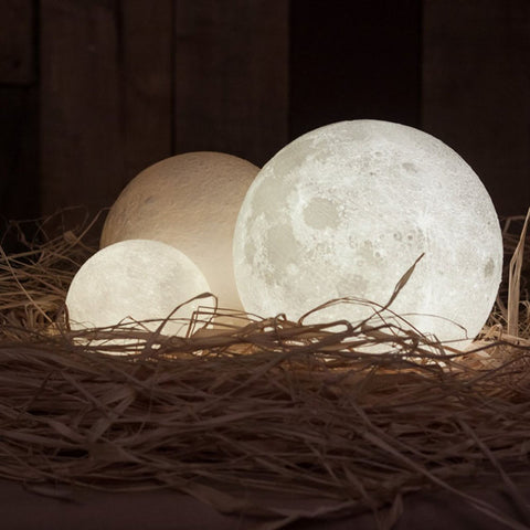 Finether - Rechargeable 3D Moon Lamp..