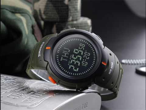 2017 SKMEI - Military Men's Compass Watch
