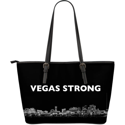 Vegas Strong Large Leather Tote