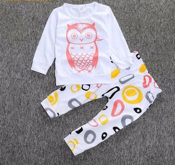 Baby Girls Owl Pajamas