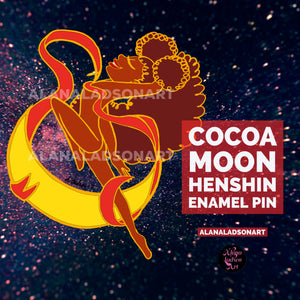 Cocoa Moon Henshin Transformation Enamel Pin