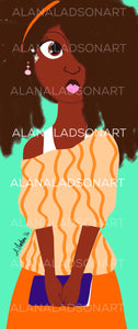 Alt*Grl Everything Nice  // Afro Locs Hair Woman // Natural Hair African-American Woman Print