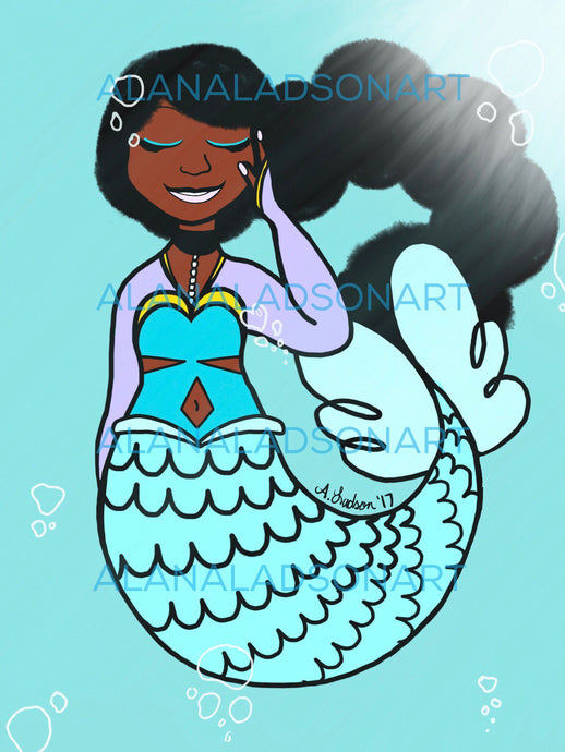 Die Cut Mermaid Sticker