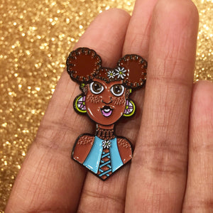 FREYA CLEMENTINE flower child daisy queen enamel pin