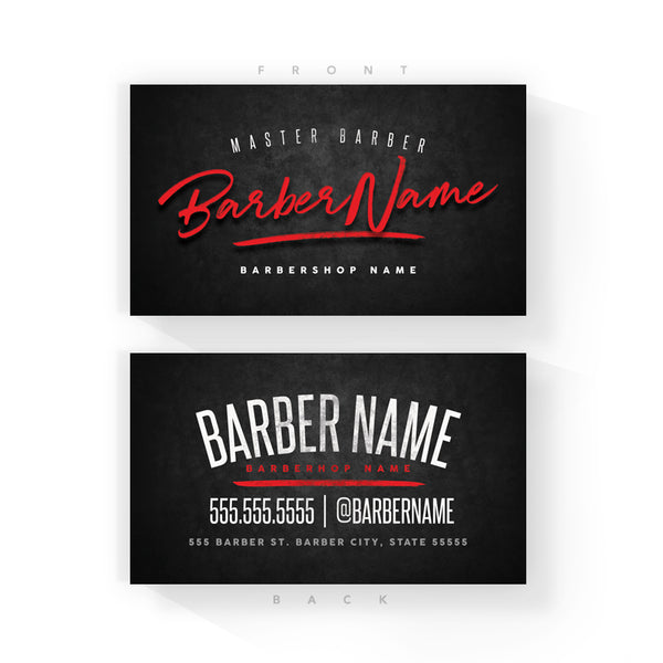 classic blackred business cards 2 x 35 inches