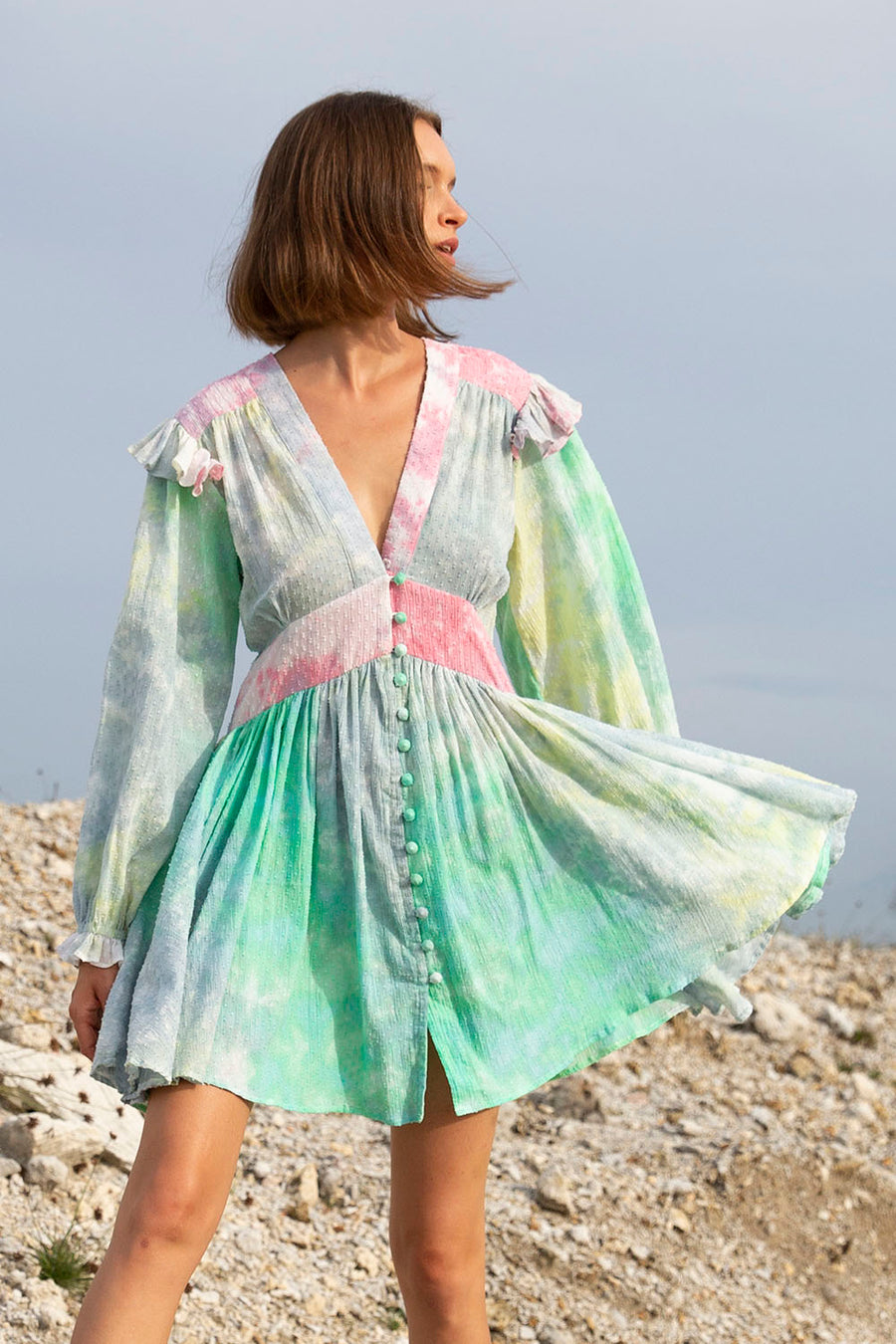 LENNON MINI DRESS MIXED CANDY