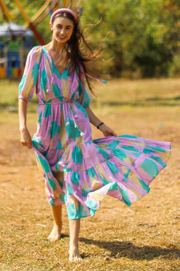 TWIGGY JANE MAXI DRESS 2 SEASONS PINK