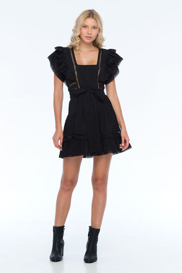 HARPER WOOD BLACK DRESS