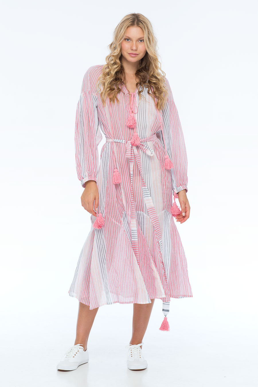 ROSIE ON FIRE VOGUE STRIPE DRESS